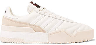 adidas By Alexander Wang - Bball Soccer Leather And Suede Sneakers - White