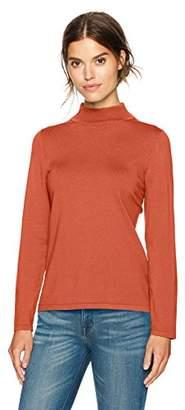 Pendleton Women's Washable Silk Mockneck Pullover Sweater