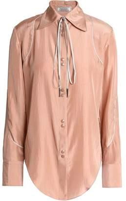 Nina Ricci Bow-Detailed Silk-Satin Shirt