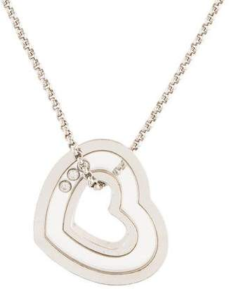 Chopard 18K Diamond Heart Pendant Necklace