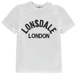 Lonsdale London Kids Boys Arch T Shirt Junior Crew Neck Tee Top Short Sleeve