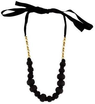 Marni Wrapped Bead & Faux Pearl Necklace