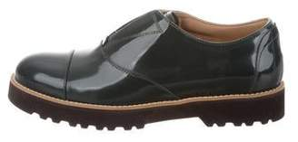 Hogan Patent Leather Round-Toe Oxfords