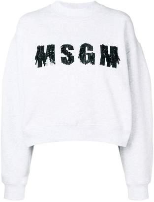 MSGM sequined logo sweatshirt