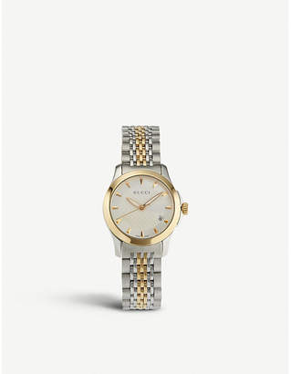 7fc783ba04d Gucci YA126511 G-Timeless Collection stainless steel and yellow-gold PVD  watch