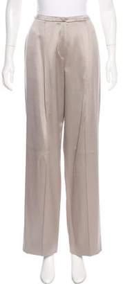 Giorgio Armani High-Rise Satin Pants w/ Tags