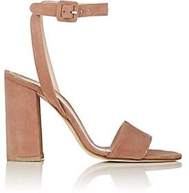 Barneys New York Women's Suede Ankle-Strap Sandals-Rose