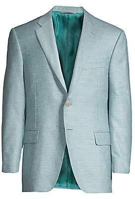 Canali Men's Silk& Cashmere Textured Jacket