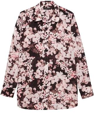 Banana Republic Parker Tunic-Fit Floral Shirt