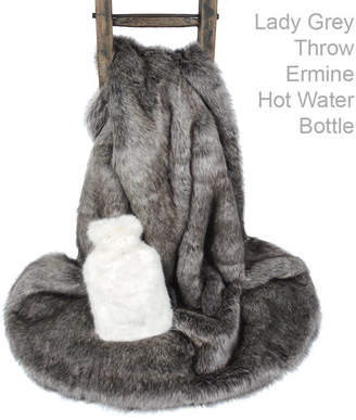 Lady Grey Helen Moore Faux Fur Throw And Ermine Hot Water Bottle
