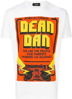DSQUARED2 Dean and Dan print T-shirt