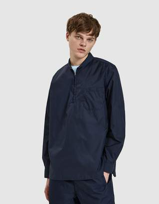 Our Legacy Shawl Zip Shirt in Blue