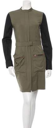 Cédric Charlier Trench Dress Olive Trench Dress
