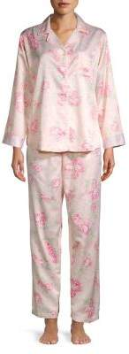 Miss Elaine Two-Piece Floral Pajama Set