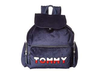 Tommy Hilfiger Nylon Flap Backpack Backpack Bags
