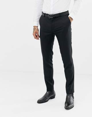 Twisted Tailor super skinny wool mix suit pants in black