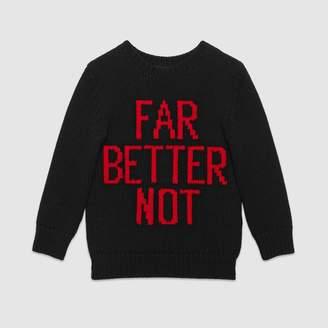 """Gucci Children's """"Far Better Not"""" wool sweater"""