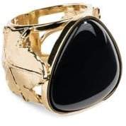 Aurelie Bidermann Vitis Black Agate Ring