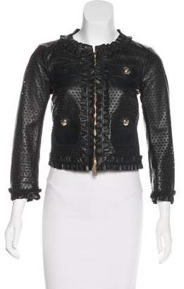 DSQUARED2 Perforated Leather Jacket