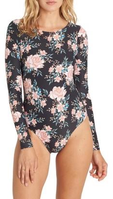 Women's Billabong Let It Bloom Bodysuit Rashguard $84.95 thestylecure.com
