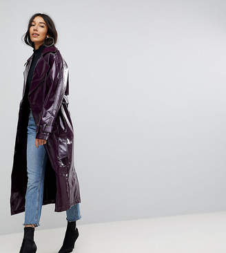 Asos Tall Oversized Mac In Vinyl