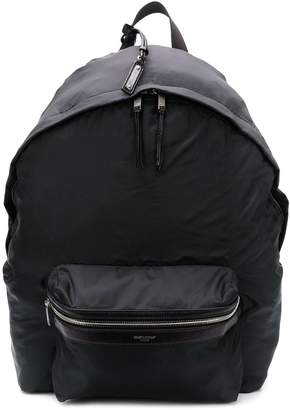 Saint Laurent double top zip backpack