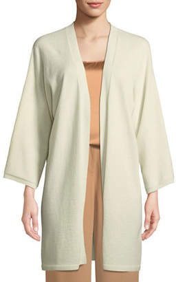 Eileen Fisher Italian Cashmere Long Kimono Cardigan