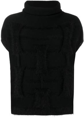 Cruciani loose fitted knitted top