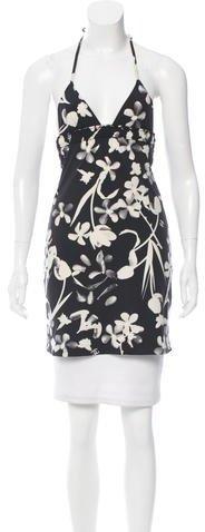 ChanelChanel Floral Print Halter Tunic