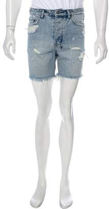 Ksubi Dagger Dan Distressed Shorts