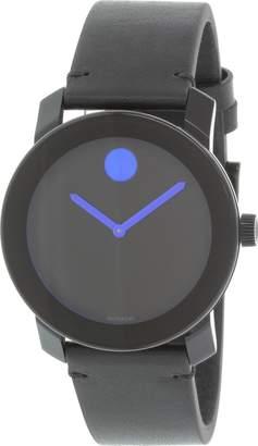 Movado Men's Bold 3600307 Leather Swiss Quartz Watch