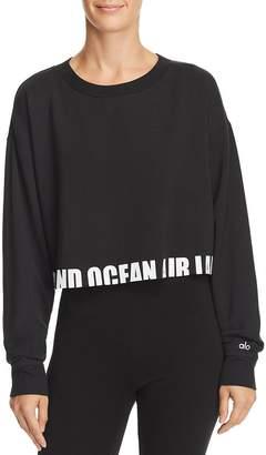 Alo Yoga Air Land Ocean Cropped Sweatshirt