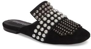 Women's Jeffrey Campbell Ravis Embellished Loafer Mule $149.95 thestylecure.com