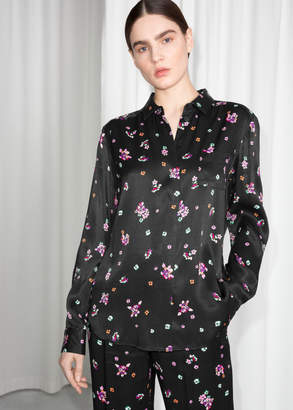 And other stories Satin Button Up Shirt