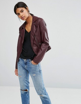 Oasis Leather Look Biker $89 thestylecure.com