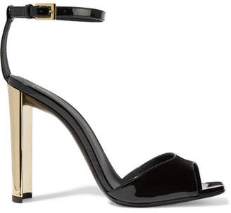 Giuseppe Zanotti - Patent-leather Sandals - Black $650 thestylecure.com