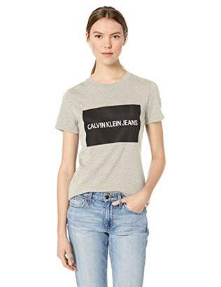 Calvin Klein Women's Short Sleeve T-Shirt Institutional Logo
