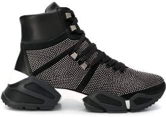 Tosca embellished high top sneakers