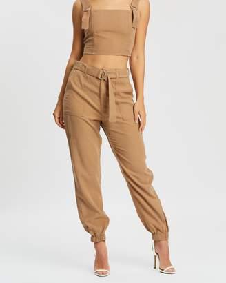 Miss Selfridge Elastic Hem Cargo Pants