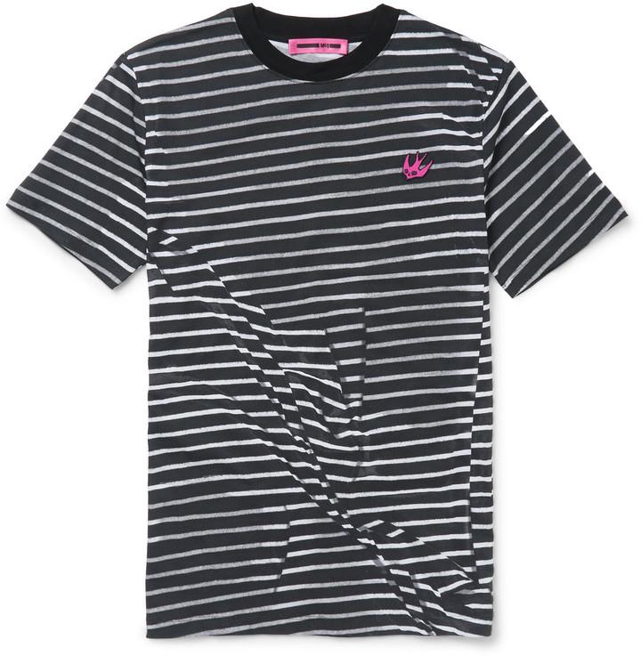 Slim-Fit Striped Cotton T-Shirt