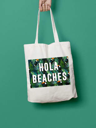 666e0d1c7 Stephanie B Designs Hola Beaches Summer Tote Bag