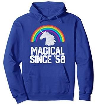 Unicorn Rainbow 1958 60 Year Old 60th Birthday Hoodie Gift