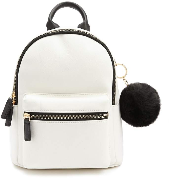 Forever 21 Pom Pom Keychain Backpack