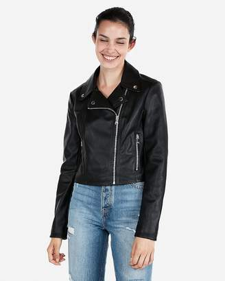 Express Cropped Moto Jacket