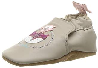 Robeez Girls' Soft Soles with Bow Back Crib Shoe