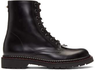 Valentino Black Garavani Lace-Up Boots