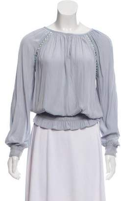 Ramy Brook Long Sleeve Ruched Blouse