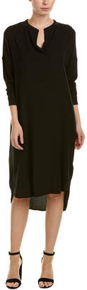 James Perse Tuxedo Wool-Blend Shift Dress