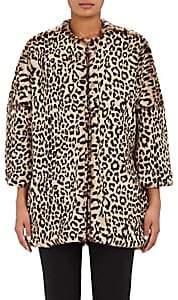 Barneys New York Women's Cocoon Coat - Leopard