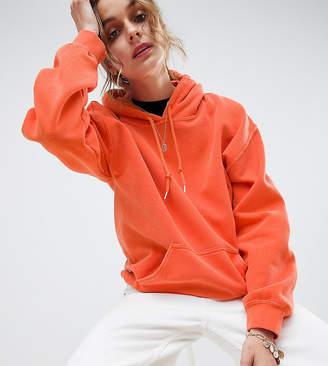 Reclaimed Vintage inspired oversized hoodie in orange